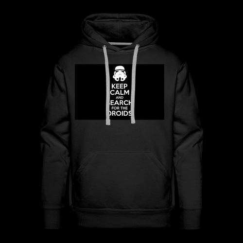 keep calm and search for the droids - Men's Premium Hoodie