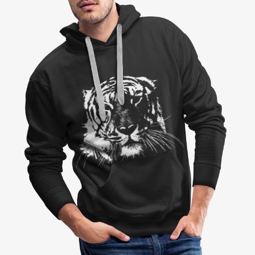 WHITE TIGER - Sudadera con capucha premium para hombre