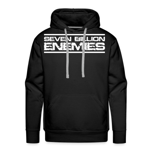 Seven Billion Enemies - BLANC - Sweat-shirt à capuche Premium pour hommes