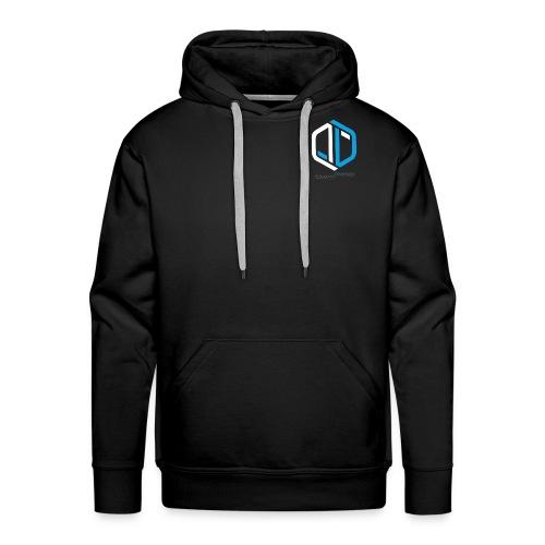 Logo Weiß auf Schwarzem Stoff png - Männer Premium Hoodie