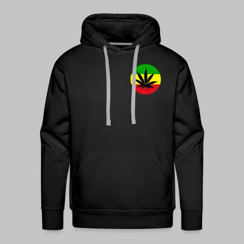 Reggae Rasta Cannabis Blatt grü gelbrot - Männer Premium Hoodie