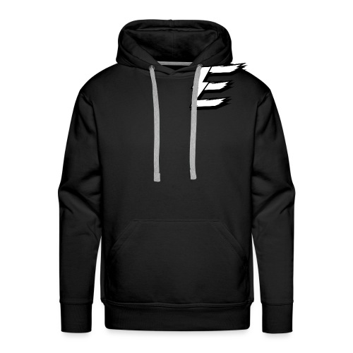White Logo Small - Men's Premium Hoodie