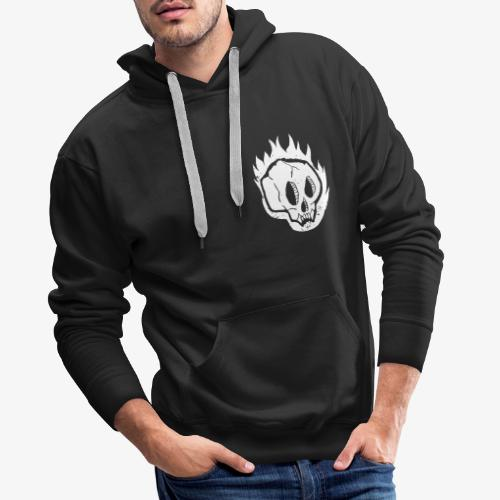 Burning skull - Sweat-shirt à capuche Premium pour hommes