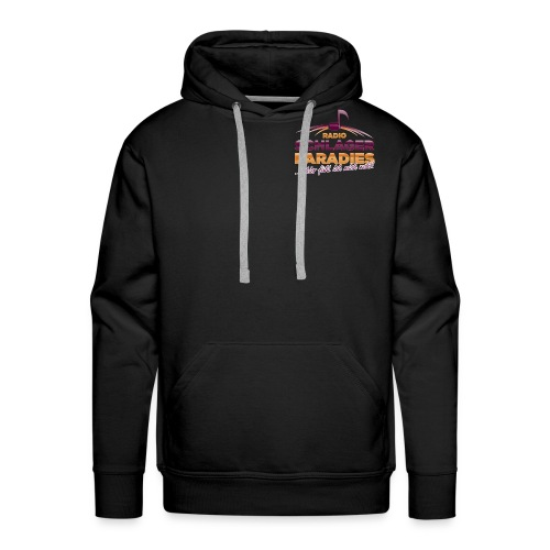 Logo SchlagerParadies glossy Slogan png - Männer Premium Hoodie