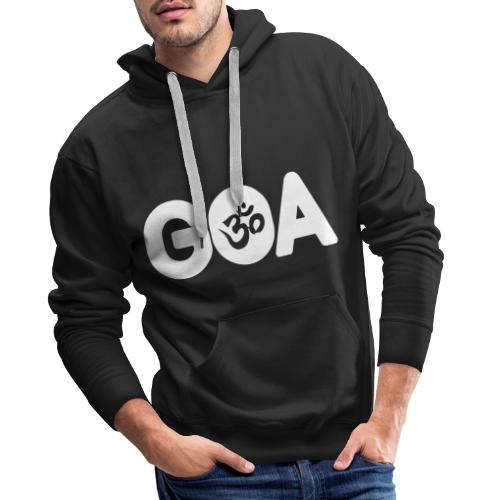 GOA LOGO WHITE - Männer Premium Hoodie