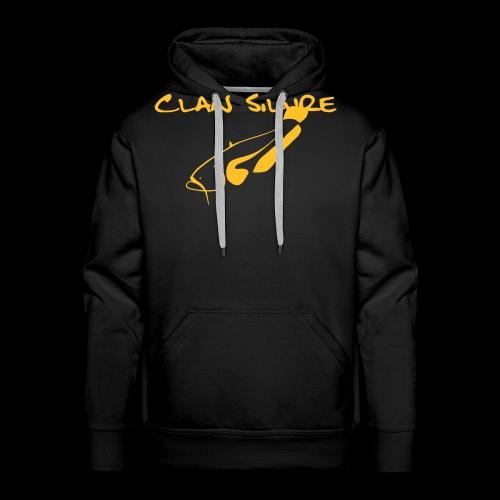 Clan Schrift schwarz - Männer Premium Hoodie