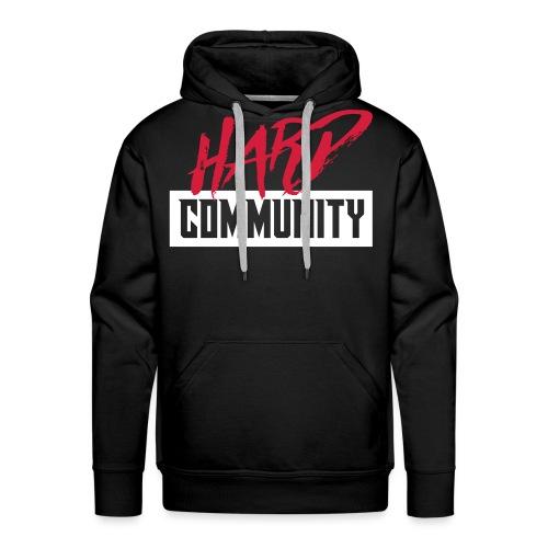 Hard Community - Sweat-shirt à capuche Premium pour hommes