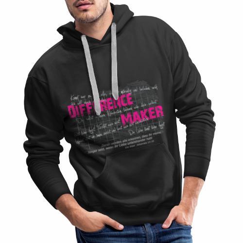 Difference Maker pink - Männer Premium Hoodie