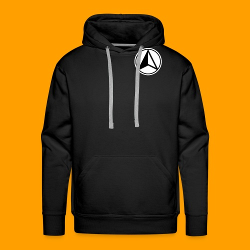 Black and White logo - Men's Premium Hoodie