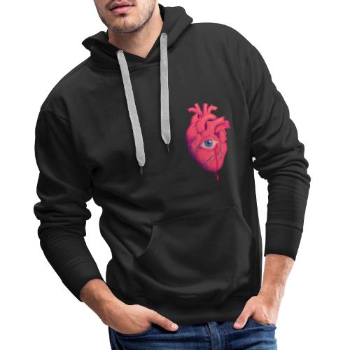 EYE HEART - Sudadera con capucha premium para hombre