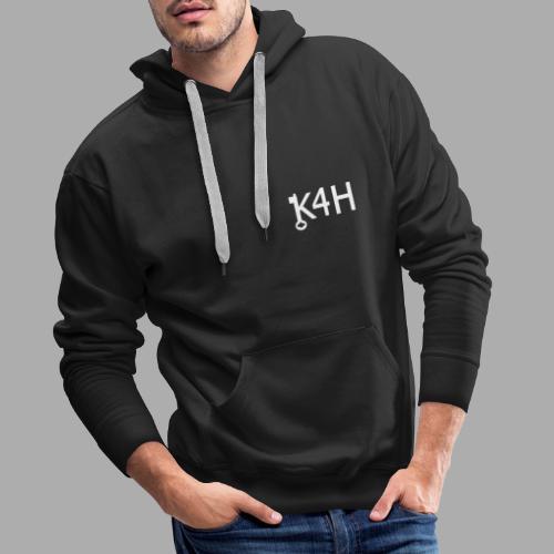 K4HText2White - Premiumluvtröja herr