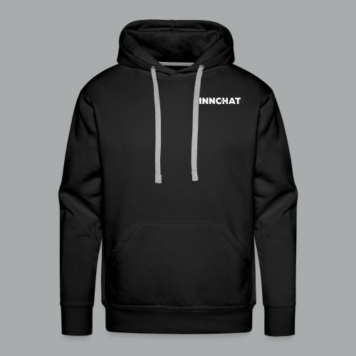 Finnchat logo valkoinen - Miesten premium-huppari