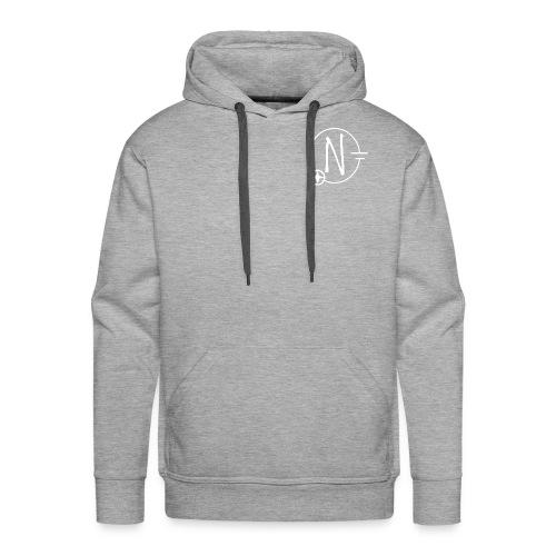 Nerdpol Logo White - Männer Premium Hoodie