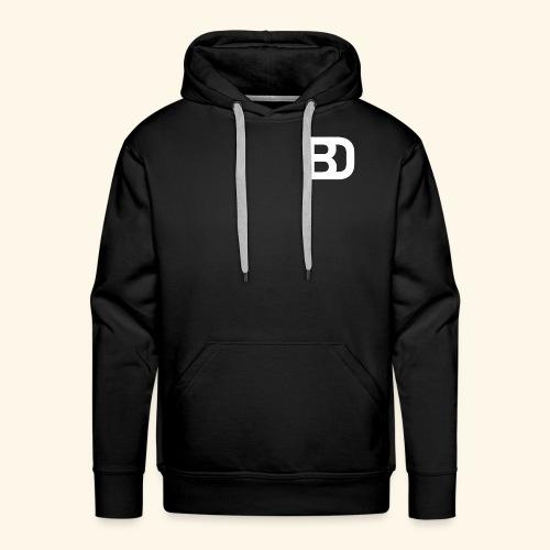 Black Damn Logo White Transparent - Männer Premium Hoodie