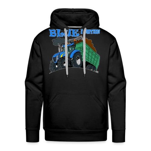 blue i motion border - Mannen Premium hoodie