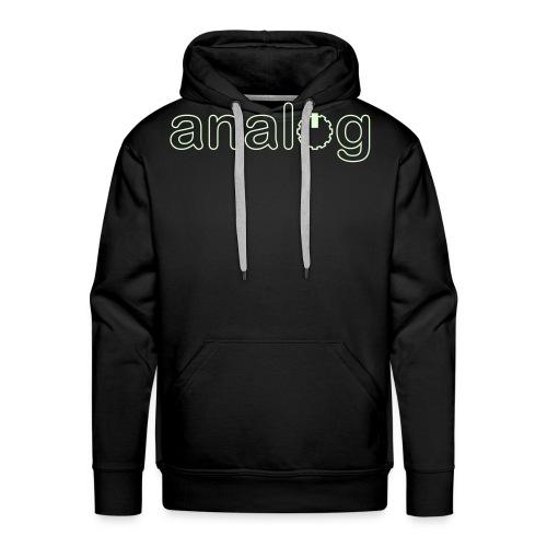 analog2x - Felpa con cappuccio premium da uomo