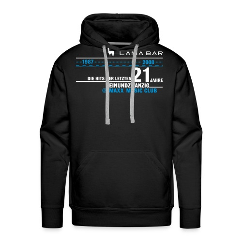 lamabar21 pullover vektor03 - Männer Premium Hoodie