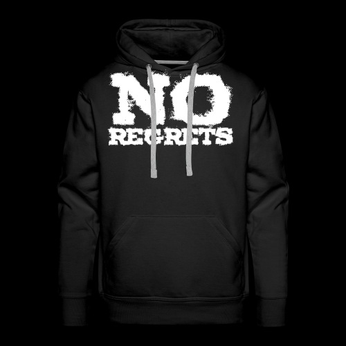NO REGRETS Transparent - Männer Premium Hoodie