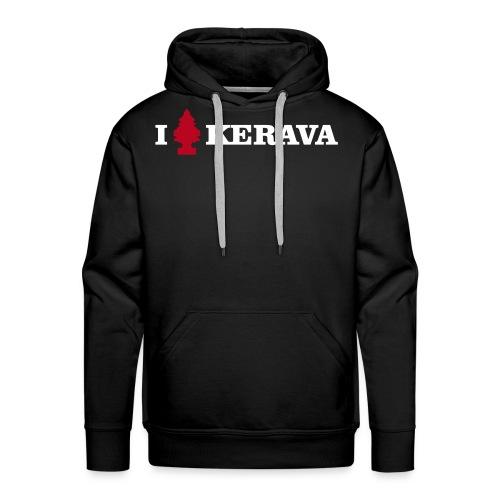 I LOVE KERAVA - Miesten premium-huppari