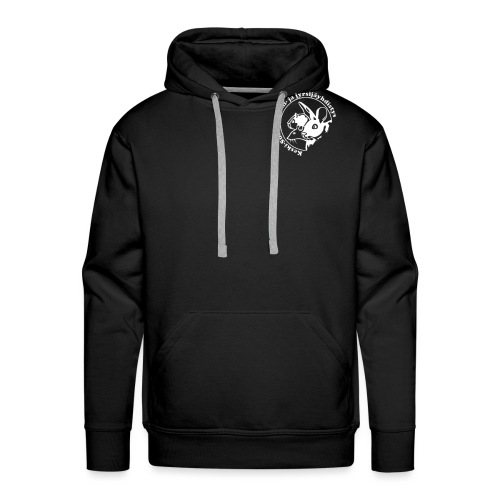KSKJY logo- Valko-musta - Miesten premium-huppari