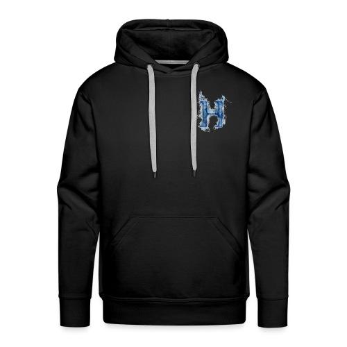 H Blue Fire - Sudadera con capucha premium para hombre