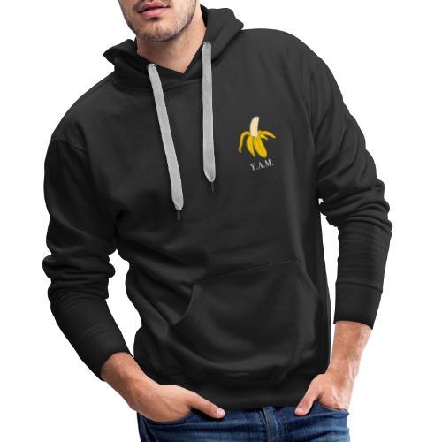Y.A.M. LOGO Zwart - Mannen Premium hoodie