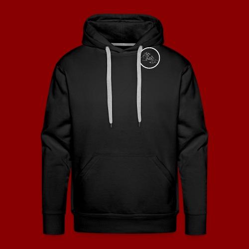 Logo Rond / Blanc - Sweat-shirt à capuche Premium pour hommes
