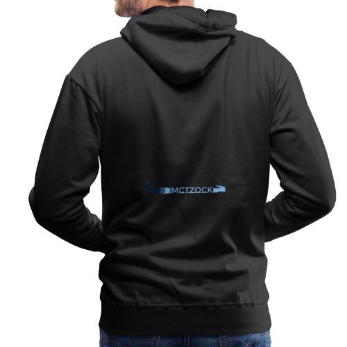 Logo schlicht beidseitig - Männer Premium Hoodie