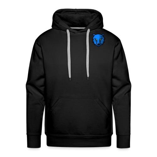 LoneWolf Blue - Sudadera con capucha premium para hombre