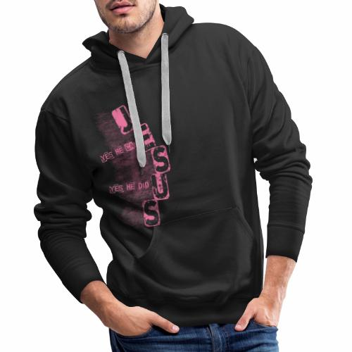 Jesus yes he can rosa - Männer Premium Hoodie