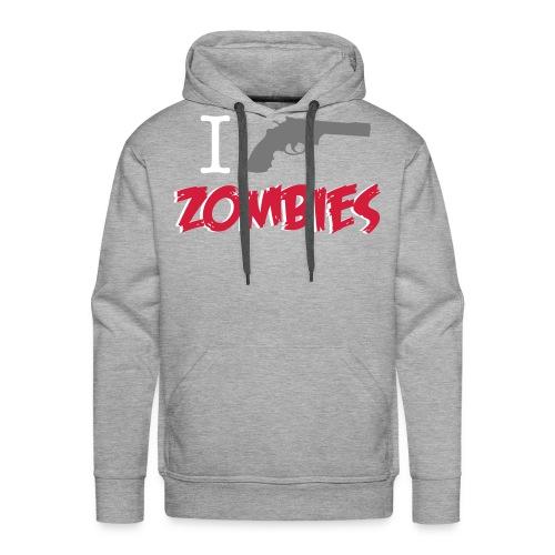 I love zombies - Sudadera con capucha premium para hombre