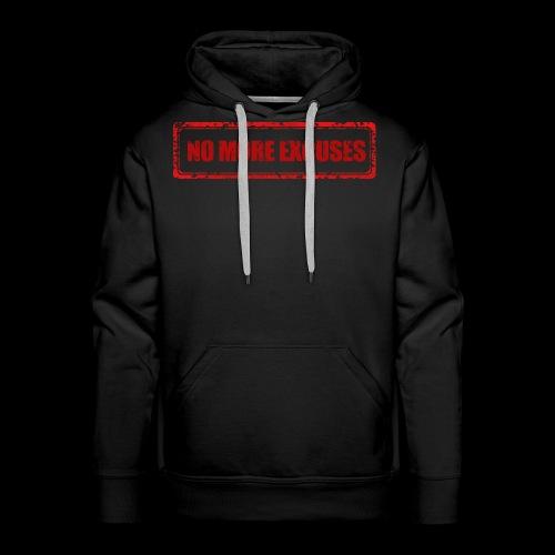 NO MORE EXCUSES - Mannen Premium hoodie