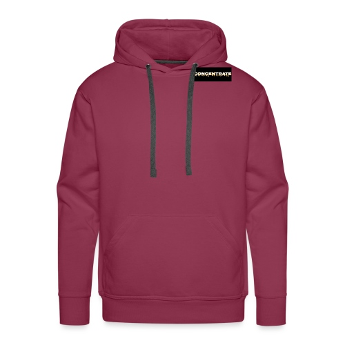 Concentrate on black - Men's Premium Hoodie