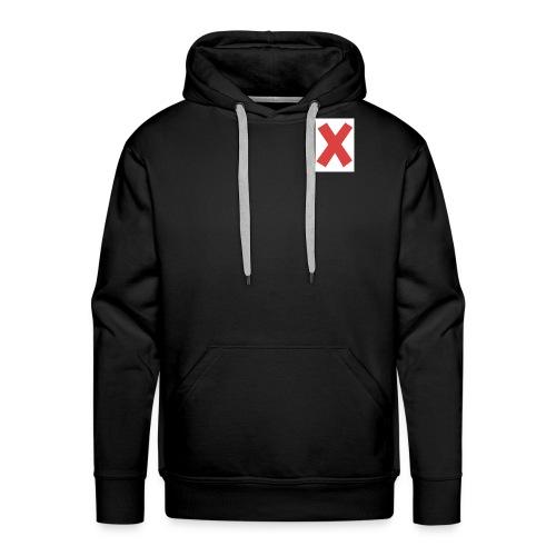 X - Felpa con cappuccio premium da uomo