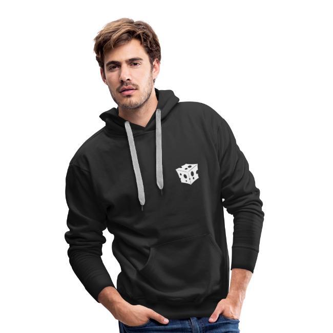 Logo enkel - kleur aanpasbaar wit hoodie unisex