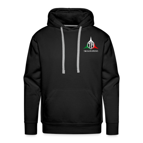 Tricolor Arrows - Felpa con cappuccio premium da uomo
