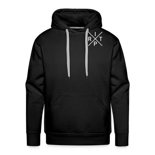 Logo RITP Blanc retrécie - Sweat-shirt à capuche Premium pour hommes