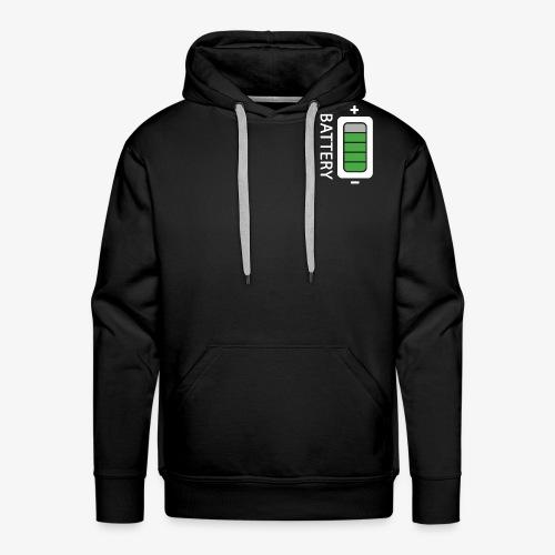 Battery - Felpa con cappuccio premium da uomo