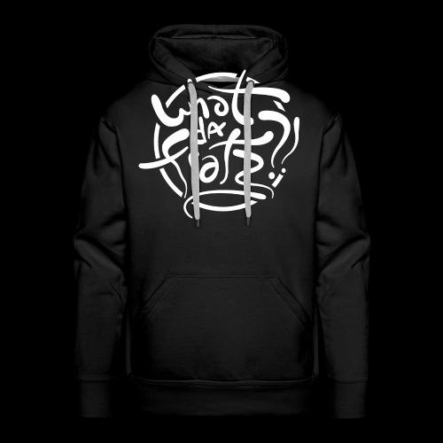 WDF LOGO WIT - Mannen Premium hoodie