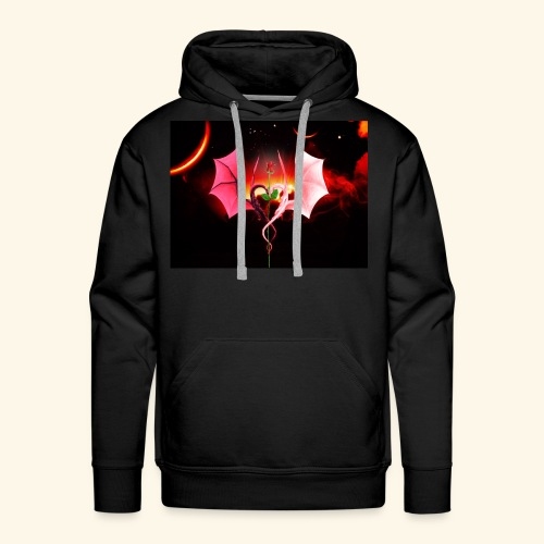 Dragon Rose of Love - Men's Premium Hoodie