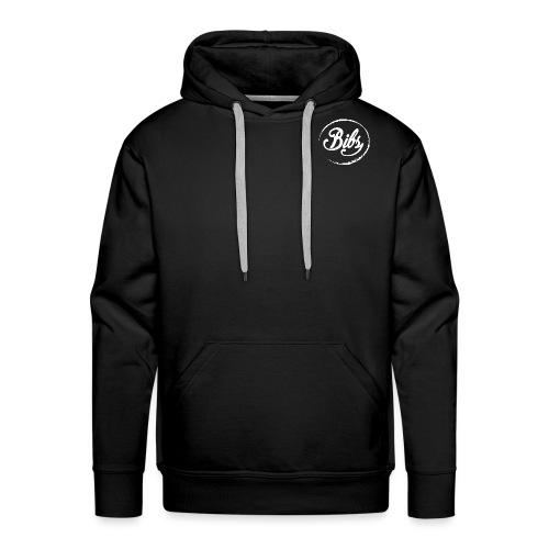 Bibs Logo Blanc - Sweat-shirt à capuche Premium pour hommes