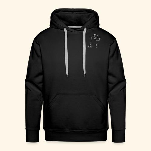 Alpaga blanc - Sweat-shirt à capuche Premium pour hommes