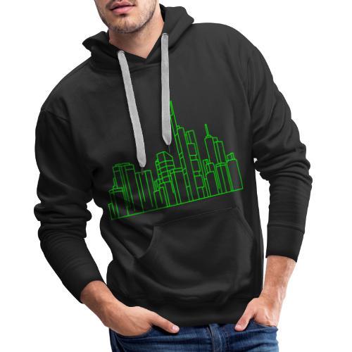 Città di Francoforte - Felpa con cappuccio premium da uomo