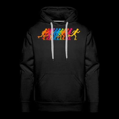 Rollerskating silhouettes - Sweat-shirt à capuche Premium pour hommes