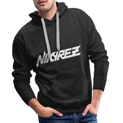 Nikyrez White Logo - Felpa con cappuccio premium da uomo