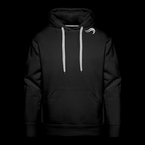 WHITE WAVY. LOGO - Sweat-shirt à capuche Premium pour hommes