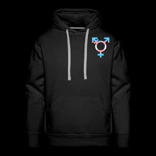 transgender symbol - Bluza męska Premium z kapturem