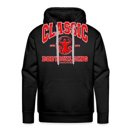 Classic Bodybuilding 70's. 80's Posing - Sweat-shirt à capuche Premium pour hommes
