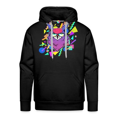 HIBOU 90's - Sweat-shirt à capuche Premium pour hommes