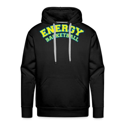 eco logo energy basketball giallo - Felpa con cappuccio premium da uomo